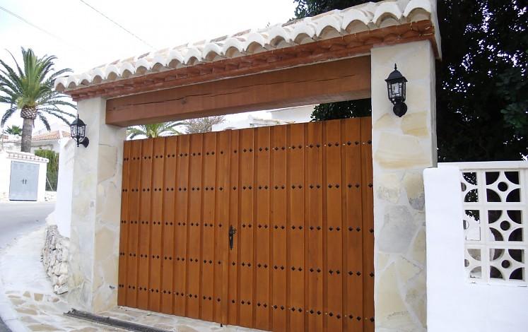 Construction des portes d'entrée